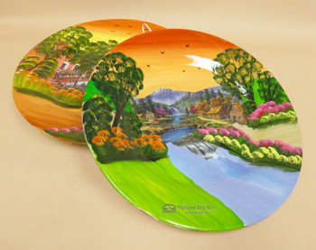 """Assorted Hand Painted Mexican Art Plate 15.5"""""""