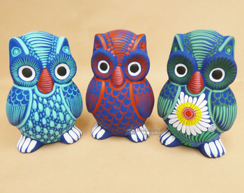 Assorted Hand Painted Matte Owl Banks