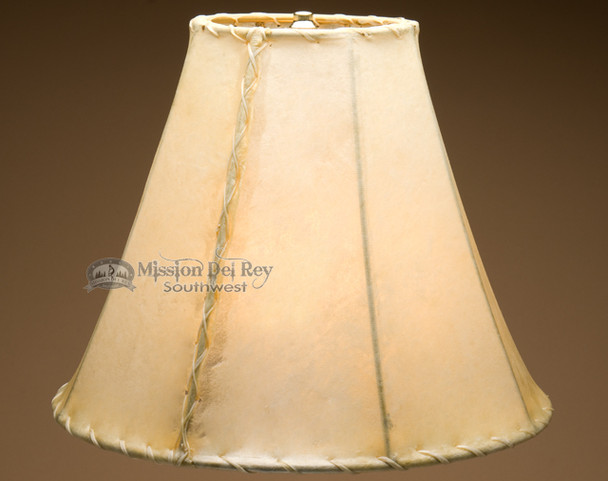 "Southwestern rawhide lamp shade - bell size. 16"""