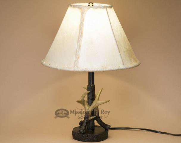 Faux Antler Lamp & Rawhide Lamp Shade