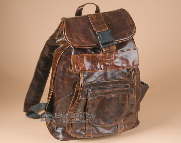 Handcrafted Leather Cowhide Back Pack (bp5)