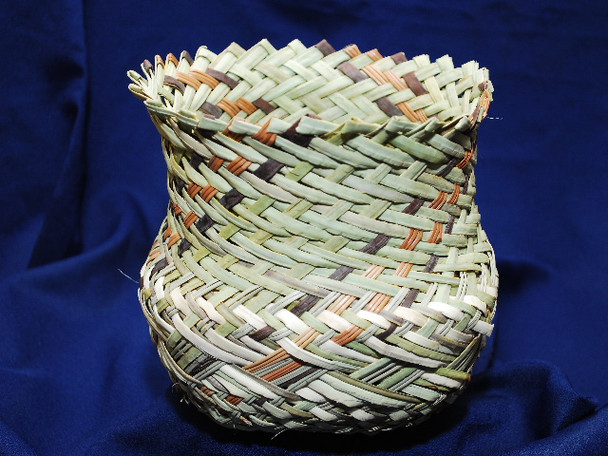 Tarahumara Woven Pine Needle Basket
