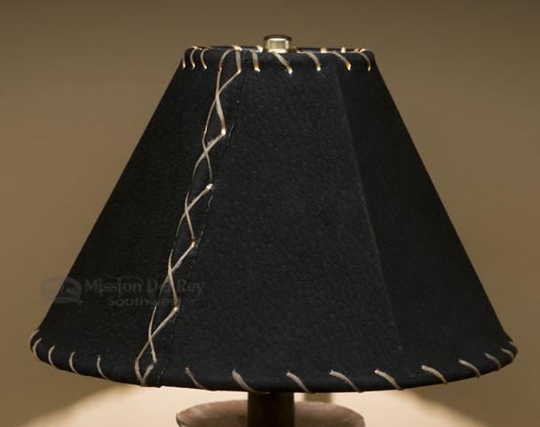 "Western Leather Lamp Shade - 10"" Black Pig Skin"