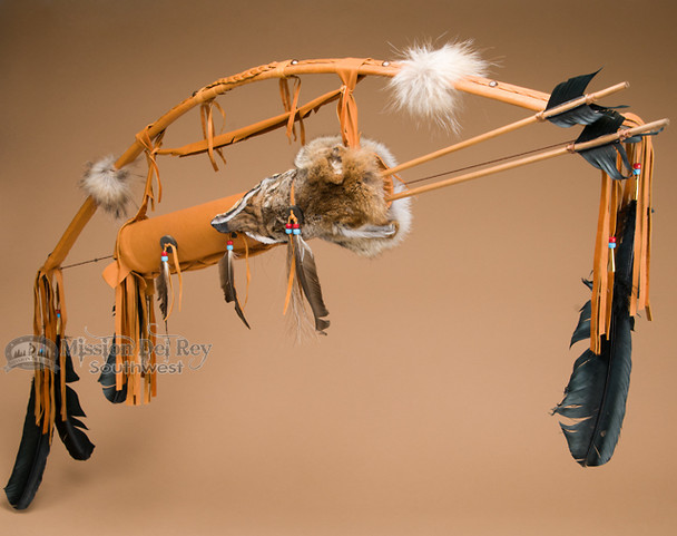 Bow and Coyote Face Quiver Set - Rust