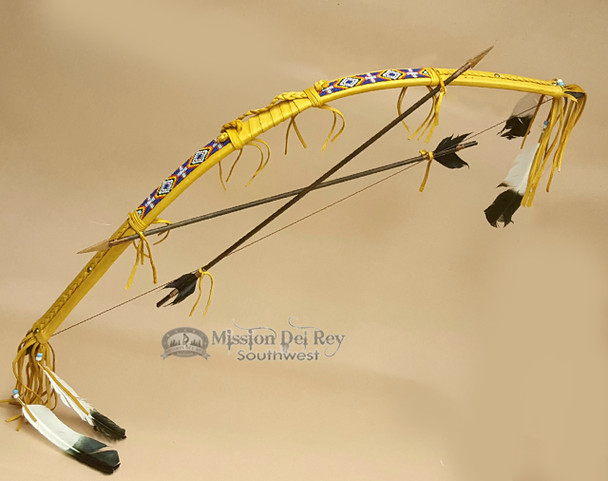 Beaded Bow and Arrow Set - Gold