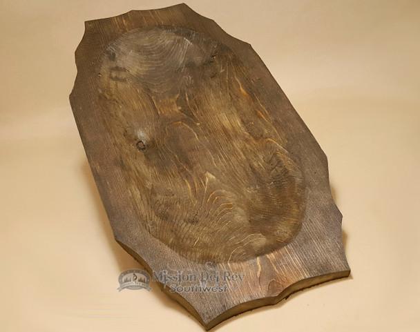 "Rustic Wooden Vintage Style Dough Bowl 23"""