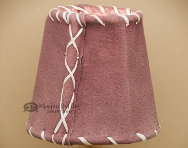 "4"" Wine Pig Skin Leather Chandelier Shades"