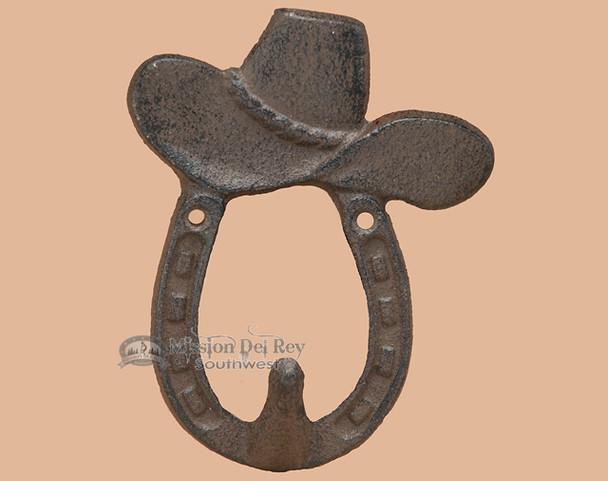 Iron Horseshoe Hook - Cowboy Hat