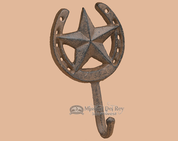 Iron Horseshoe Wall Hook - Star