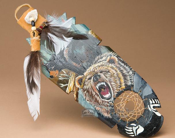Painted Cedar Kiowa Feather - Medicine Spirit