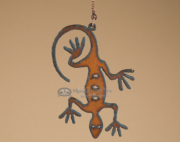 Metal Art Pull Chain - Lizard