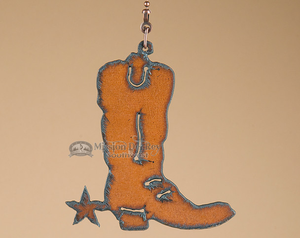 Western Metal Art Boot - Chain Pull