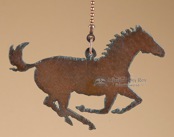 Western Metal Horse - Chain Pull