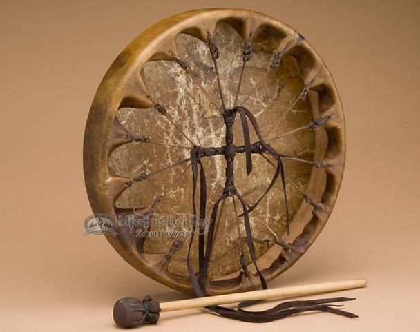 Hand Laced Cherokee Buffalo Drum