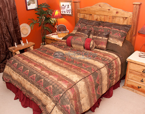 7 Piece Southwestern Bedspread Del Sierra -King