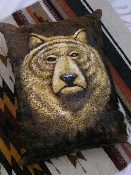 Western Cowhide Pillow - Bear (21)