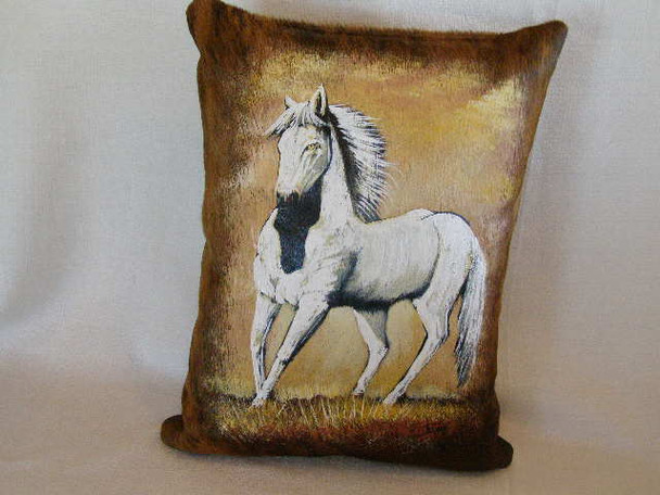 Western Cowhide Pillow - Horse