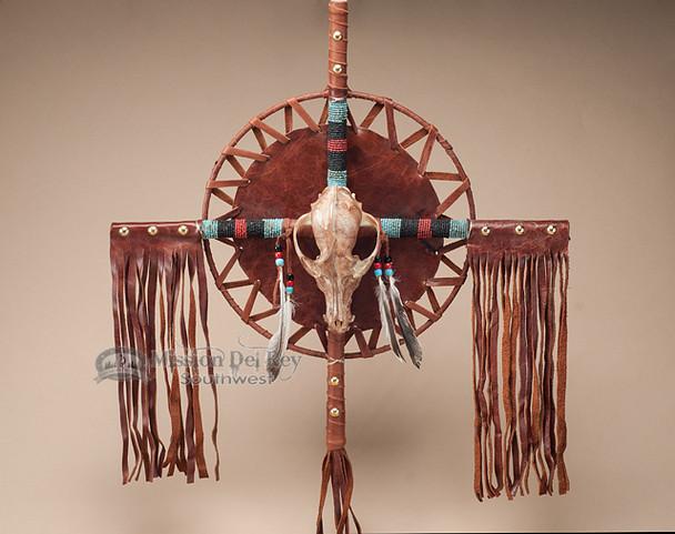 """Southwestern Pueblo Native American Cross 20"""" -Coyote (c2)"""