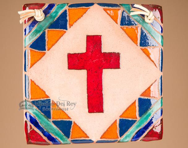 Southwestern Handcrafted Saltillo Tile Cross (63)
