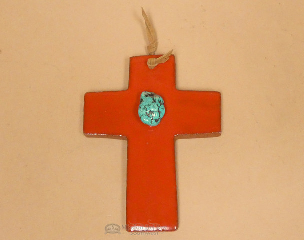 Saltillo Tile Ceramic Cross -Red