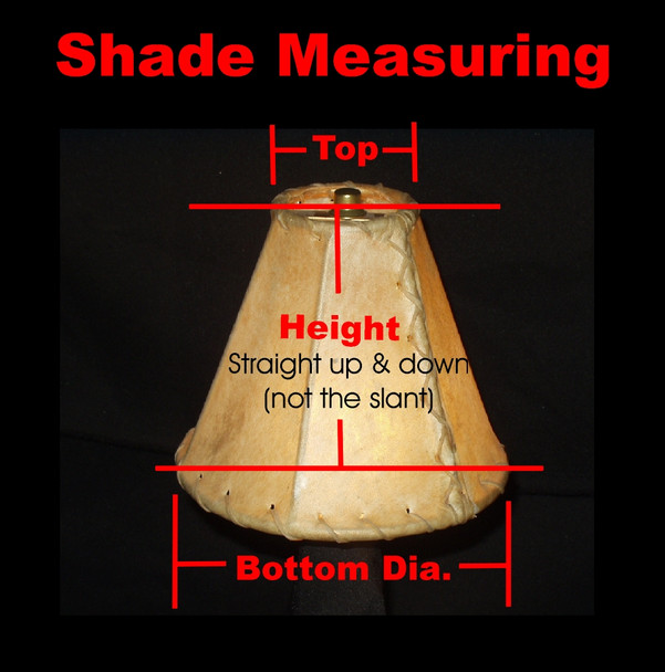 "Rawhide Custom Lampshades - 13"" bottom dia."