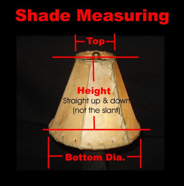 "Custom Rawhide Southwestern Decor Lampshade - 23"" bottom dia."