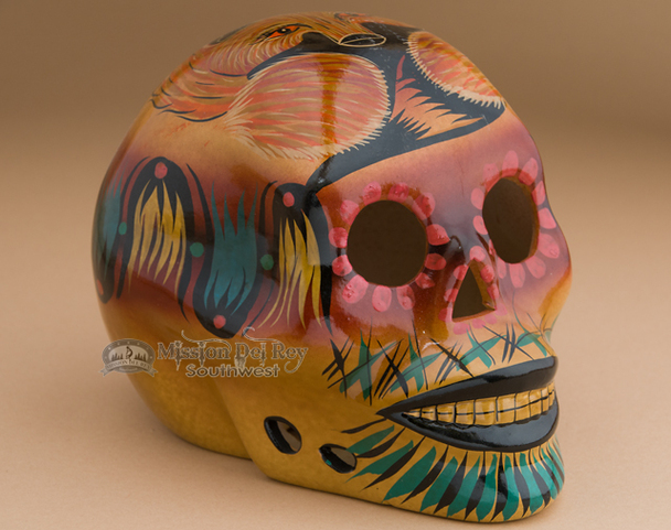 Southwest Day of the Dead Skull - Fox