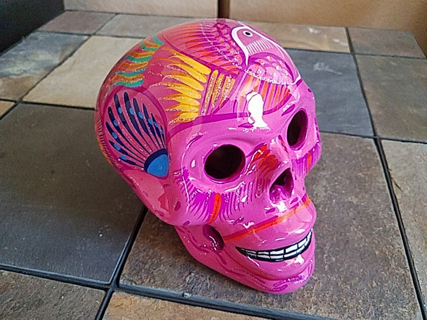 Hand painted Mexican day of the dead skull