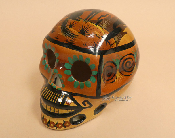 Southwestern Day of the Dead Skull - Wolf