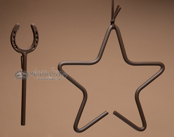 Western Iron Dinner Bell - Star