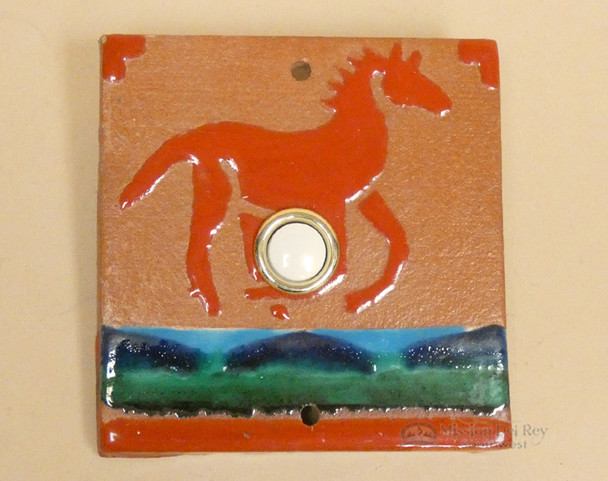 Hand Crafted Southwest Tile Doorbell - Pony
