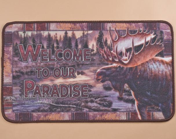 Lodge or cabin decor doormat.