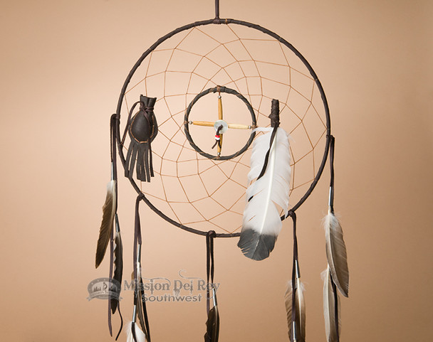 "12"" Medicine Wheel and Dreamcatcher Combo -Brown"