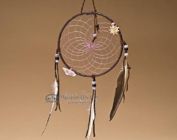 "6"" Native American Dreamcatcher - Purple"