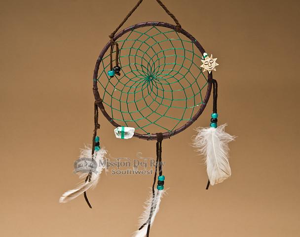 "6"" Native American Dreamcatcher - Green"