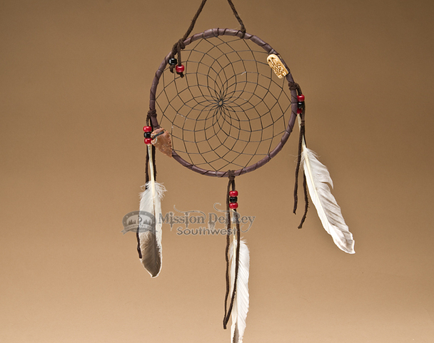 "6"" Native American Dreamcatcher - Black"