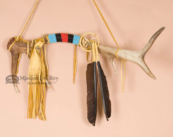 Native American Elk Antler Spirit Stick 25""