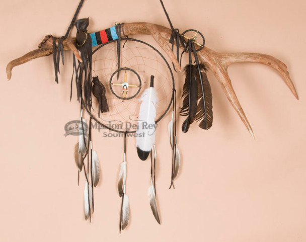 Elk Antler Medicine Wheel Dreamcatcher