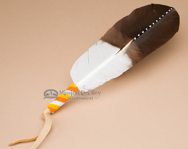 Beaded & Painted Navajo Prayer Feather (f2)