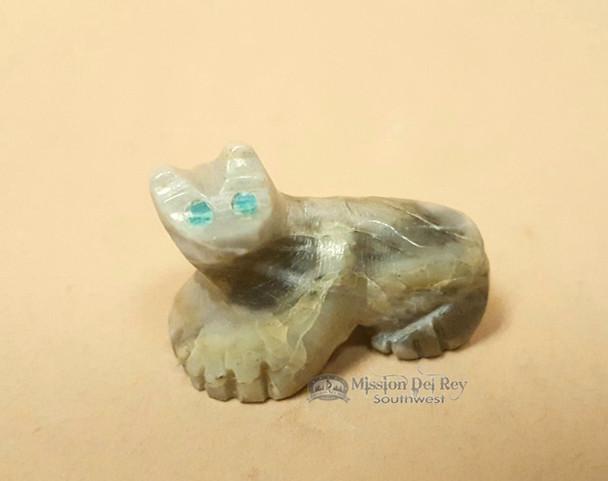 Hand Carved Stone Zuni Fetish -Bear