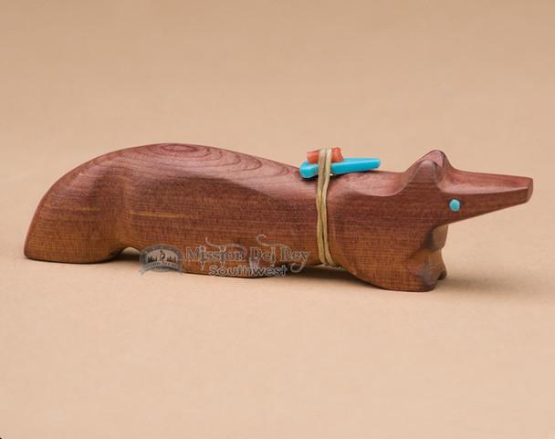 Hand Carved Wood Zuni Fetish Animal -Fox (f75)