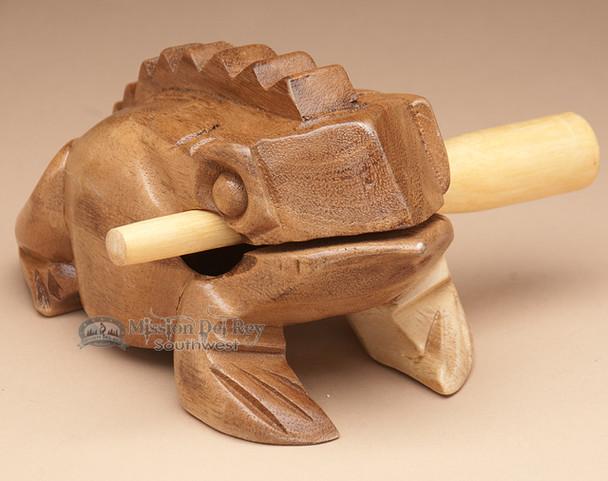 Wooden Croaking Frog - XL