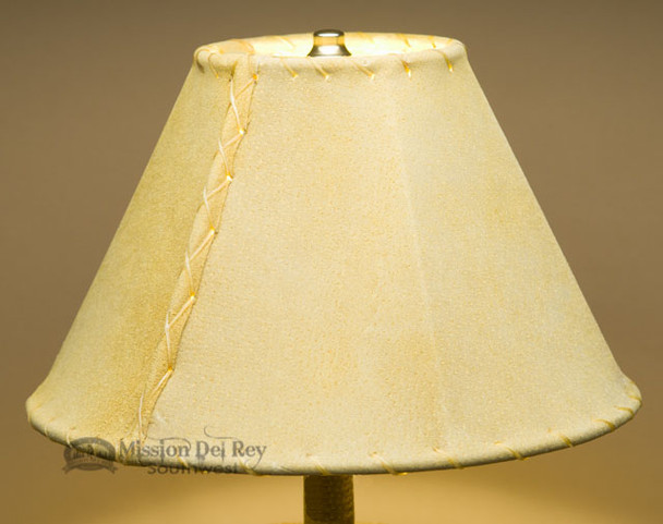 """Western Leather Lamp Shade - 12"""" Gold Pig Skin"""
