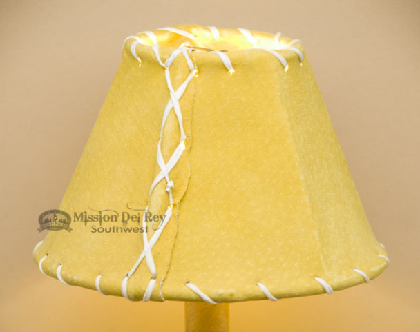 """Gold Leather Chandelier Shade - 6"""""""