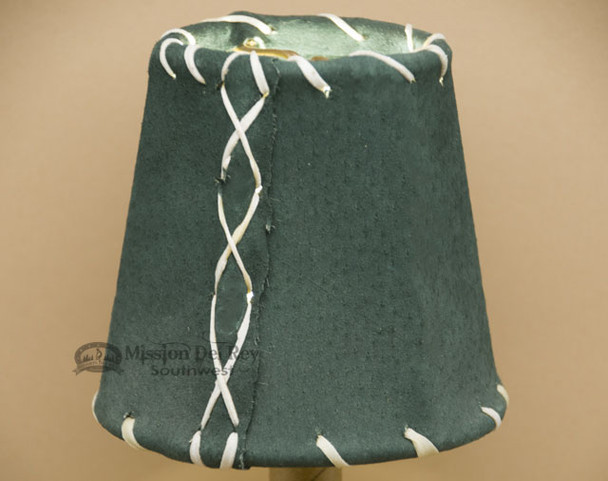 """4"""" Green Leather Chandelier Shade"""
