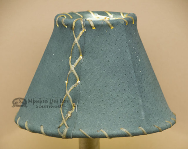 "Pig Skin Leather Chandelier Shade - 6"" Green"