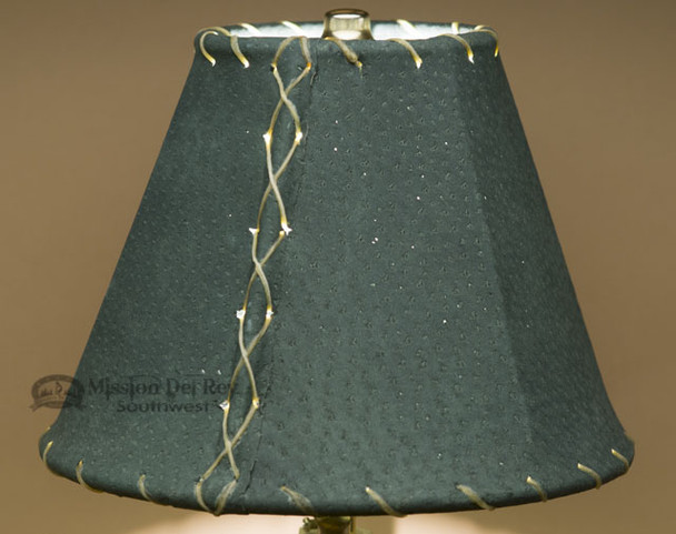 """Western Leather Lamp Shade - 8"""" Green Pig Skin"""