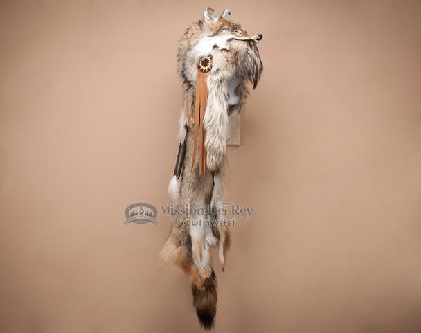 Authentic Native American Coyote Pelt Headdress