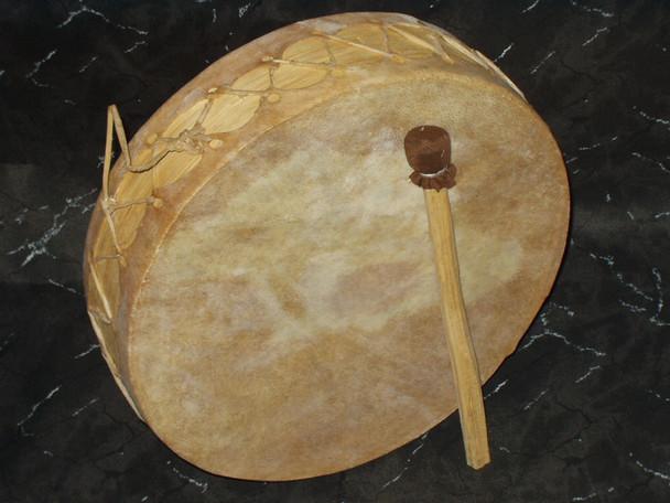 """Genuine Rawhide Tarahumara Drum 7"""""""