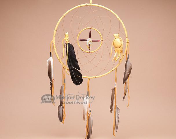 """Navajo Dreamcatcher Medicine Wheel Combo - 12"""" Gold"""